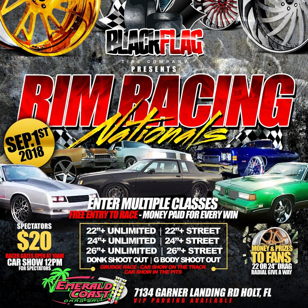 RIM RACING NATIONALS Emerald Coast Dragway - Donk car show